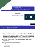 Tema 1 Datos Economicos y Modelizacion Econometrica