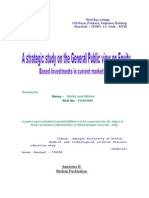 A Strategic Study on the General Public View on Equity Based