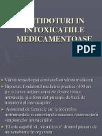 Antidoturi in Intoxicatiile Medicamentoase