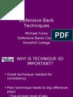 Defensive Back Techniques