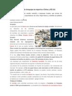 Basura Reciclada de Arequipa Se Exporta a China y EE