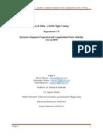 Dynamic Response Properties and Longitudinal Static Stability of CIrrus SR22