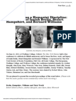 Philosophy as a Humanist Discipline_The Legacy of Isaiah Berlin, Stuart Hampshire, And Bernard Williams _The New York Review of Books
