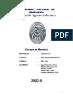 Bombas Centrifugas - Informe