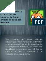 Contenidos Fenólicos y Caracterización Sensorial de Fusión y