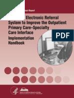 AHRQ EReferral Implementation Handbook