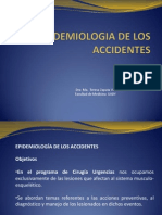 Epidemiologia de Los Accidentes