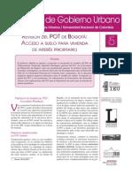 Debates Gobierno N 5-Revision POT-Ardila Gerardo-2010