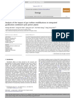 Analysis of the Impact of Gas Turbine Modifications in Integrated Gasification Combined Cycle Power Plants