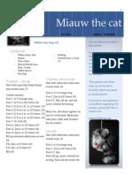 Miauw the Cat Key Ring English