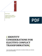 Identity Considerations for Elicitive Conflict Transformation