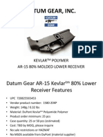 Datum Gear Inc Ar-15 Kevlar 80% Lower Presentation
