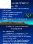 Human Resource Management - Unit 1