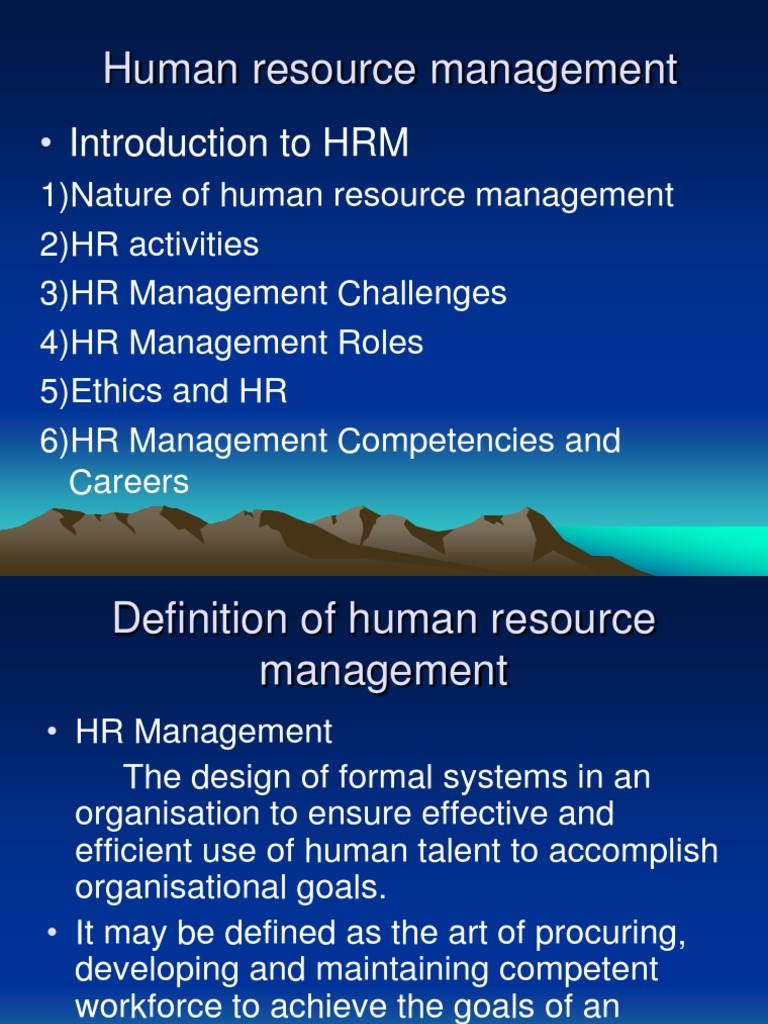 define ethics discuss the relation of ethics and human resources management