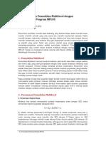 Contoh Analisis Pemodelan Multilevel Dengan Menggunakan Program MPLUS