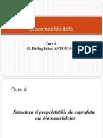 Structura Si Proprietatiile de Suprafata Ale Biomaterialelor