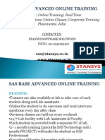 Sas Base and Advanced Training Institutes in Hyderabad