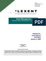 Fermi Asset Management Business Process Requirements Document Phase 2