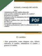 Clase 10 Cambio y Desarrollo Organizacional