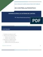 Unidad I. Introducción a Los Sistemas de Control