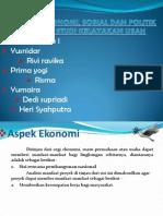 Aspek Ekonomi, Sosial Dan Politik.ppt