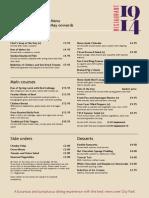 summer r1914 menu 26 may 2014