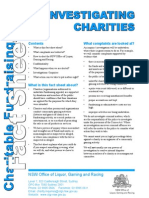 Fact Sheet - Investigating Charities
