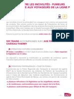 Lettre Ouverte Aux Voyageurs de La Ligne P Lutte Contre Les Incivilités-fumeurs 2 Juin 2014