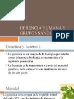 Herencia Humana y Grupos Sanguineos