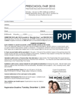 Preschool Fair Registration 2010