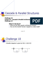 Lesson 19 Cascade and Parallel Architectures