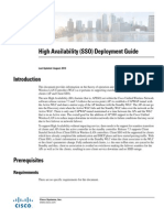 Cisco WLC High Availability SSO design