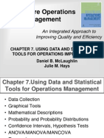 Using Data and Statistical Tools for Operations Management