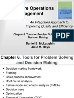 Tools for Problem Solving and Decision Making