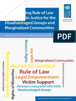 Strengthening rule of law and access to justice for the disadvantaged groups and marginalized communities