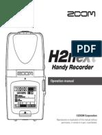 Zoom H2n Manual