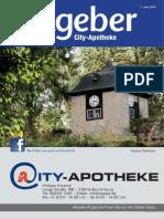 Ratgeber aus Ihrer City-Apotheke – Juni 2014