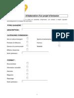 Formulaire de Projet Tvr9