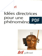 Idees Directrices Pour Une Phenomenologie