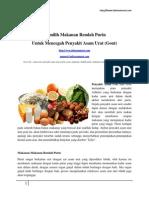 Memilih Makanan Rendah Purin Untuk Mencegah Penyakit Asam Urat