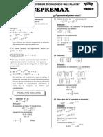 CEPREMAX - Algebra Semana 02 (Ecuaciones Exponenciales)