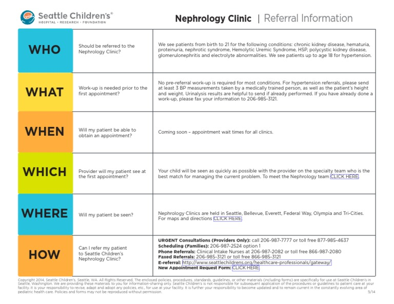 Guidelines Nephrology | Nephrology | Seattle