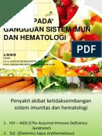 Nutrisi Pada Sistem Imun Dan Hematologi
