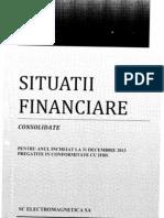 Situatii Financiare 2013 Consolidate Electromagnetica