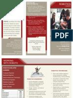 robotics career brochure