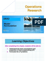 ORDUDE #3-Model Formulation