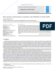 Place Presence, Social Presence, Co-presence, And Satisfaction in Virtual Worlds