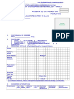 PhD Full Time Part Time Application Form