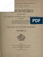 Camilo Castelo Branco - Cancioneiro Alegre de Poetas Portugueses e Brasileiros II
