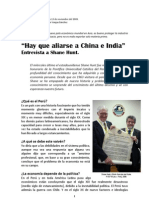 Una entrevista en Perú a Shane Hunt... Lima, 2009